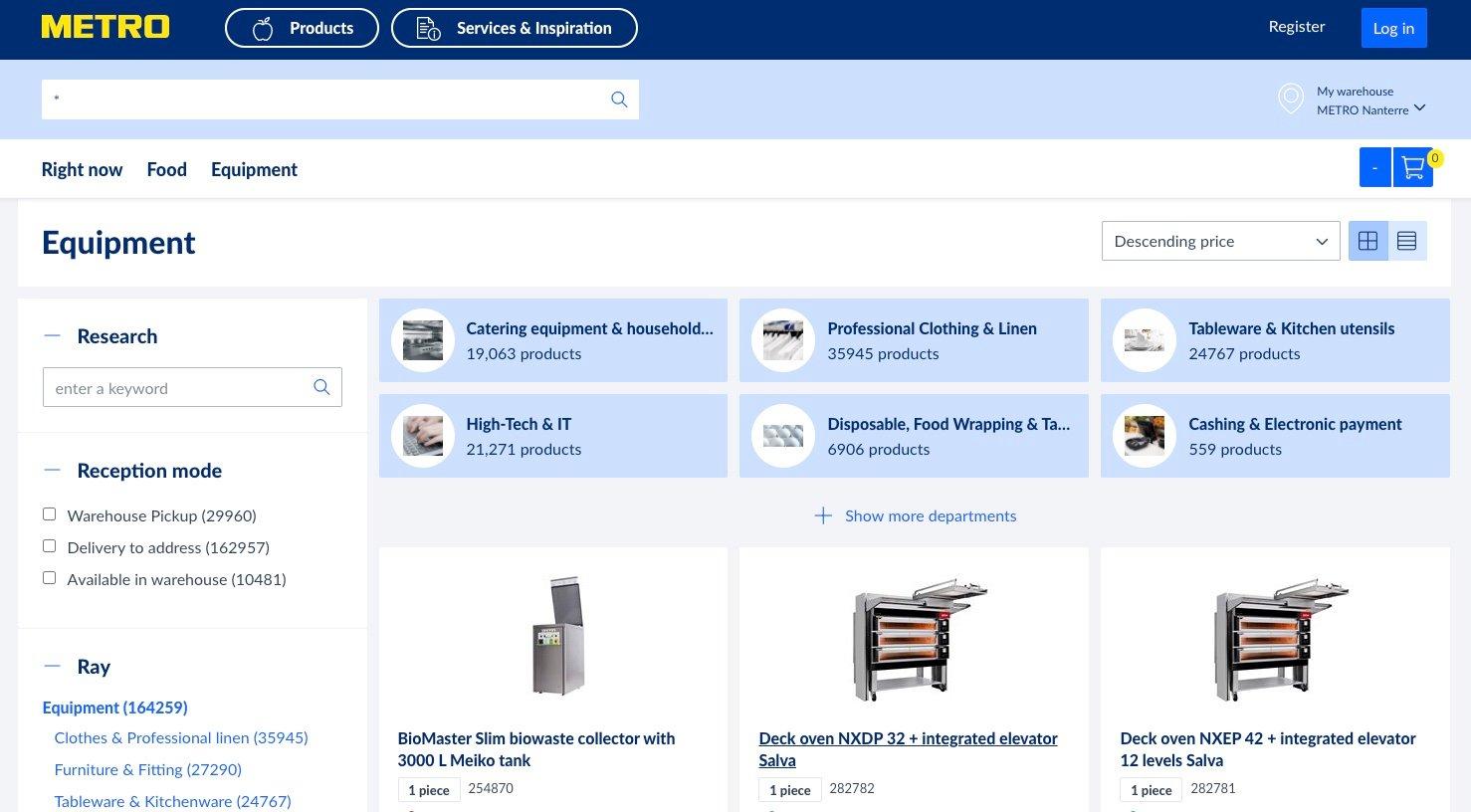 METRO marketplace screenshot