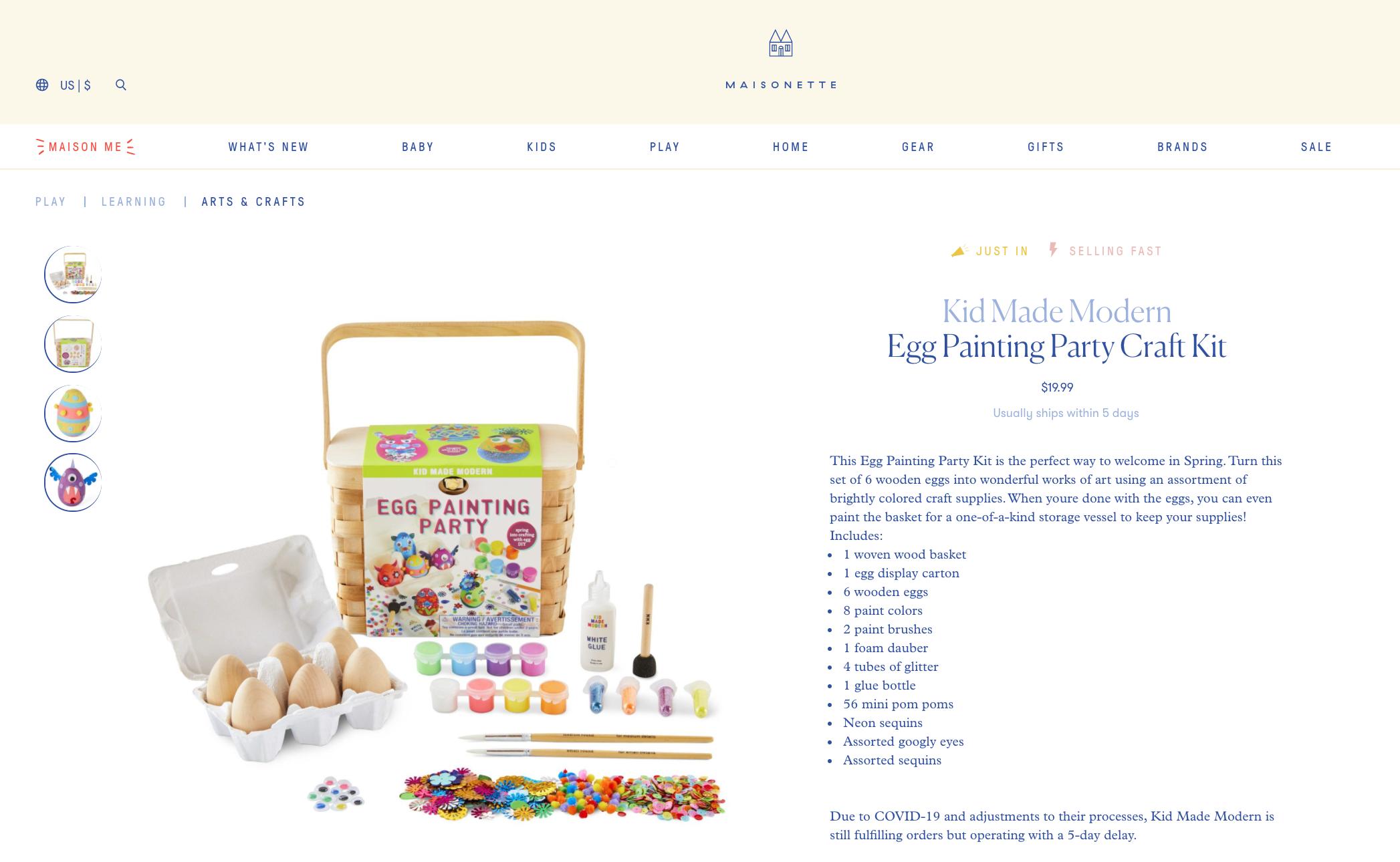 Maisonette marketplace April 2020
