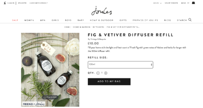 fig & vetiver diffuser refill found on Joules