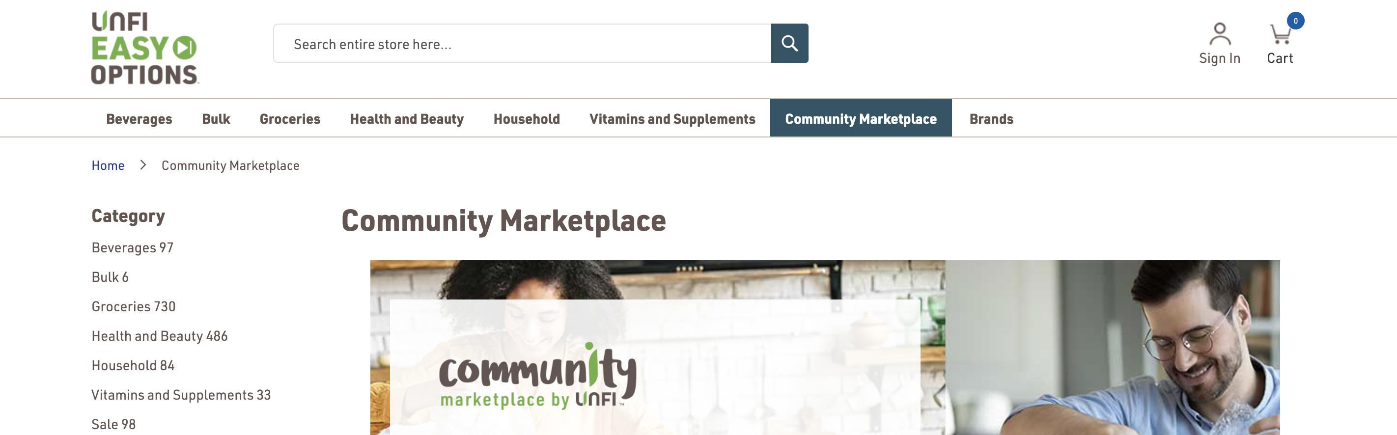 UNFI Community Marketplace