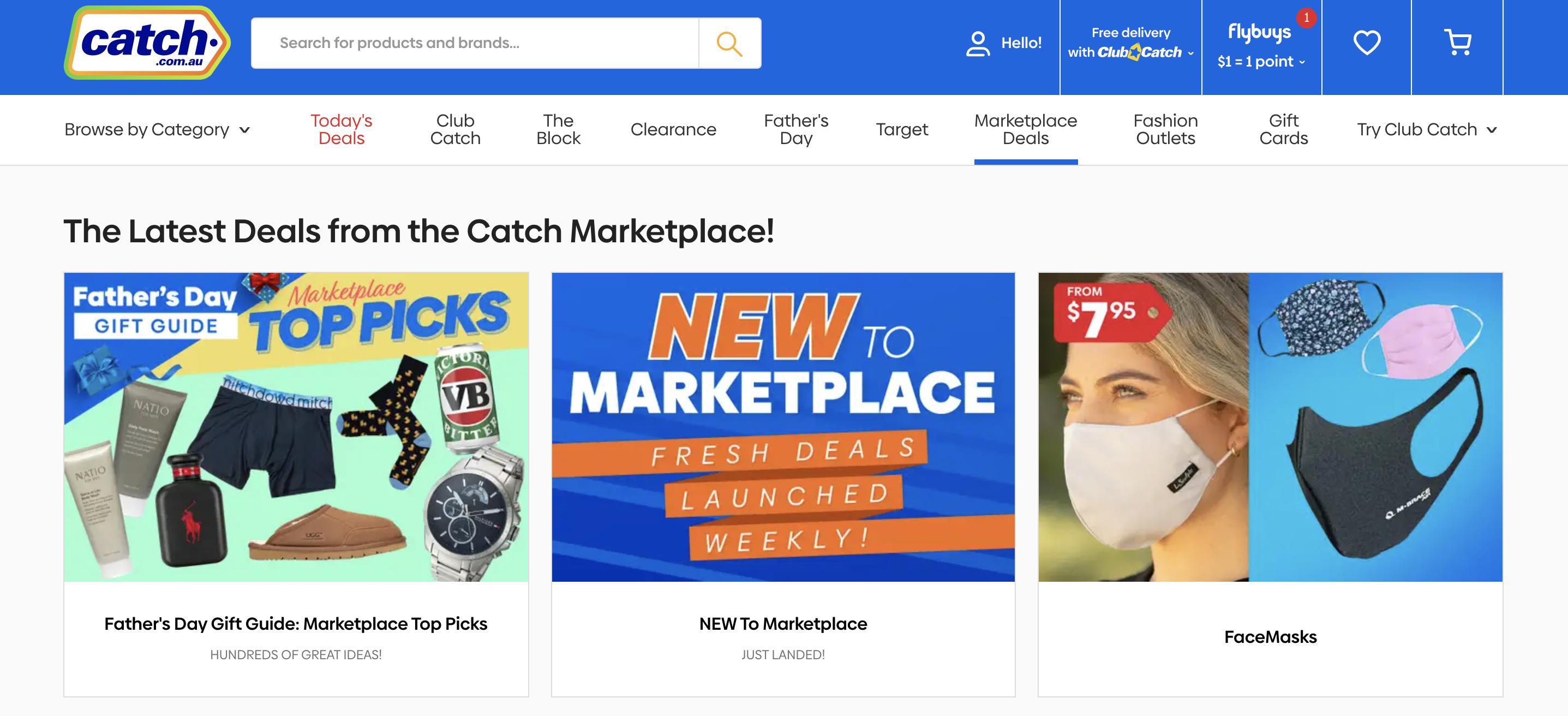 catch.com screenshot